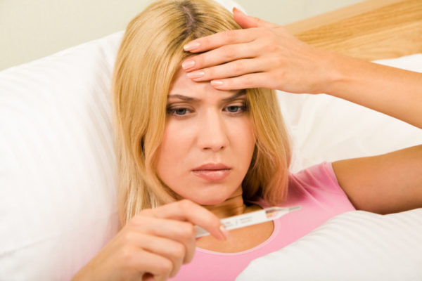 Повышенная температура тела при вирусе Коксаки