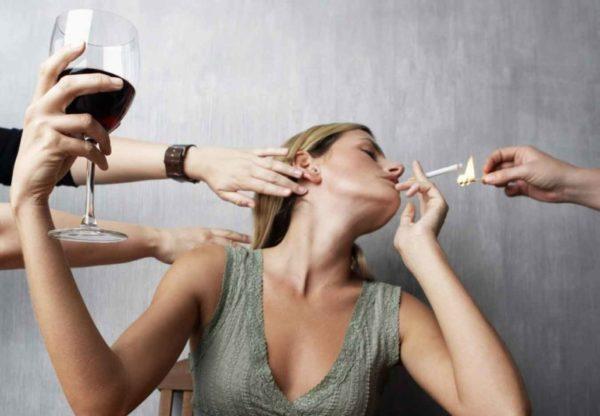 Наличие вредных привычек