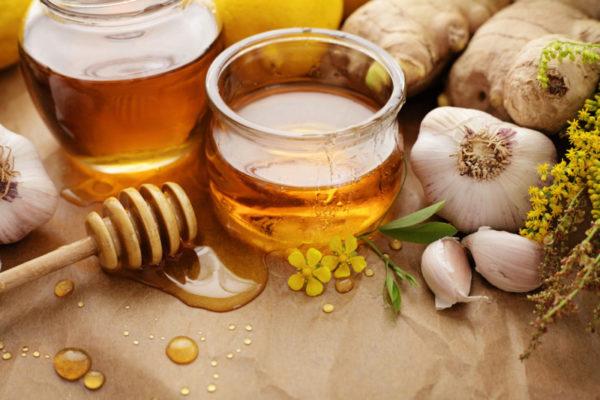 Чеснок и мед от горла