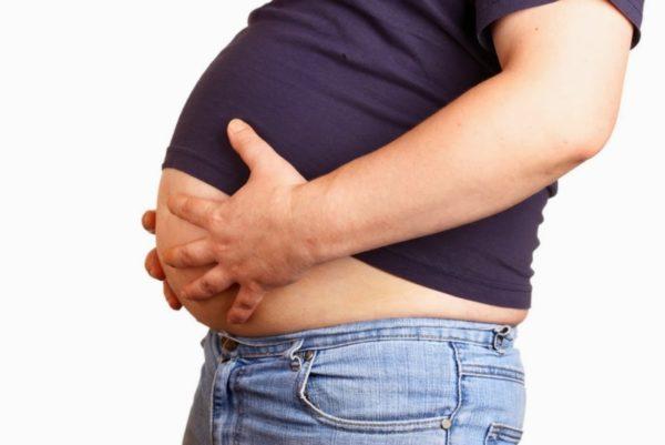 Лишний вес - причина атеромы
