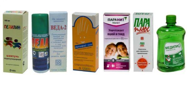 Препараты для обработки педикулеза