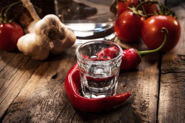 Алкоголь и перец