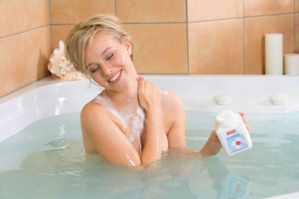 Прием ванны с морской солью
