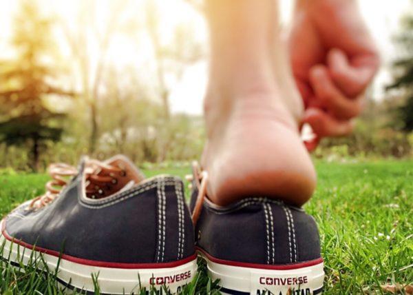 Ношение не дышащей обуви