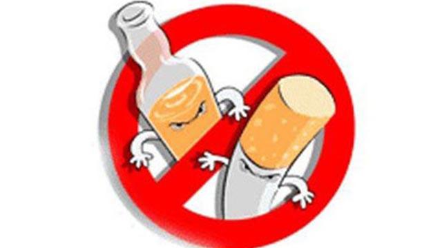 Отказаться от табачных и алкогольных изделий
