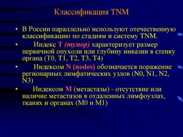 Клиническая TNM классификация