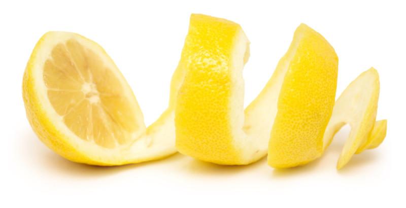 Лимон с кожурой