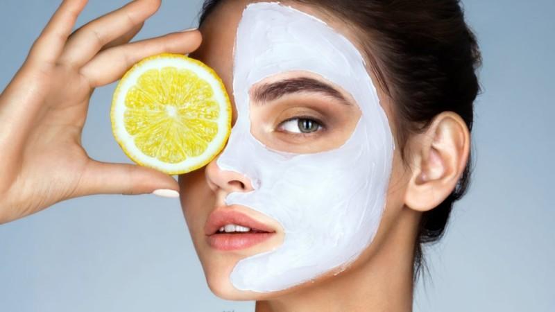 Маска для лица с лимоном