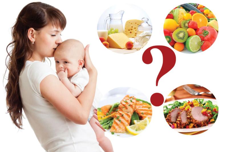 Диета кормящей мамы и беременной женщины