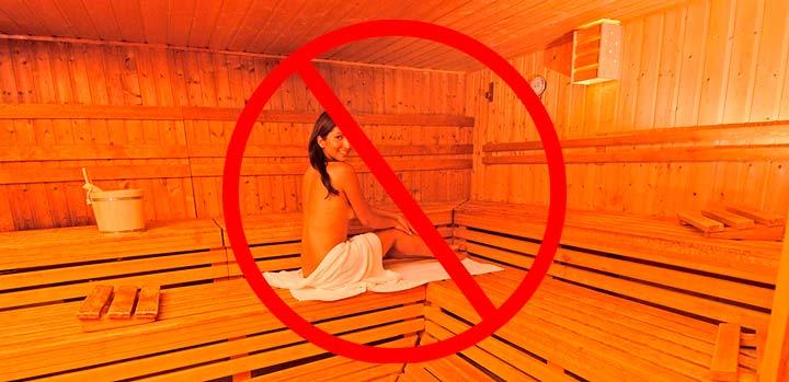 Запрещено посещать бассейны, сауны